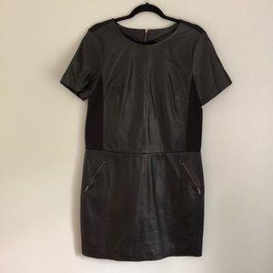Halogen Leather Paneled Dresss